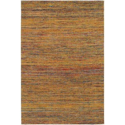 Shenaz Dhurrie Gold Area Rug Rug Size: 79 x 106