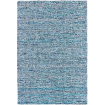 Shenaz Dhurrie Light Blue Area Rug Rug Size: 79 x 106