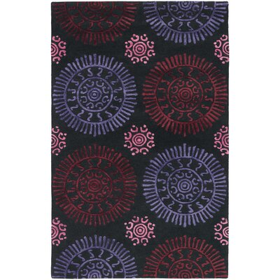 Stanton Red Area Rug Rug Size: 7'9