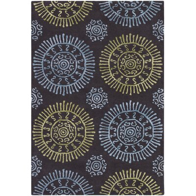Stanton Green Area Rug Rug Size: 79 x 106