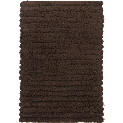 Chaya Shag Dark Brown Rug Rug Size: Rectangle 79 x 106