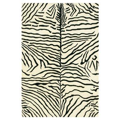 Vassar Black/Gray Area Rug Rug Size: Rectangle 79 x 106