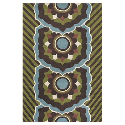 Green/Blue Area Rug Rug Size: Rectangle 79 x 106