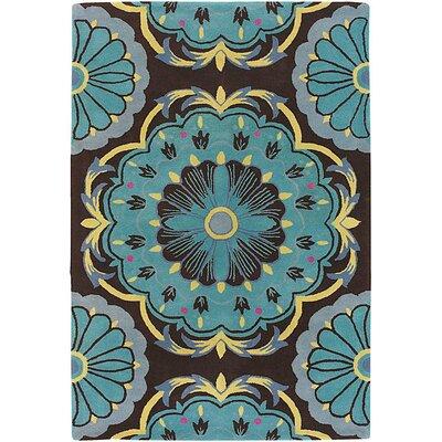 Blue Area Rug Rug Size: Rectangle 79 x 106