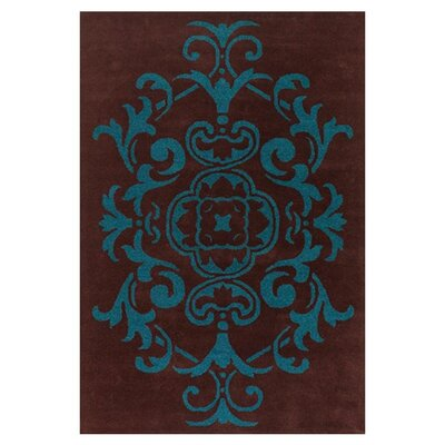 Venitian Brown/Blue Area Rug Rug Size: 79 x 106