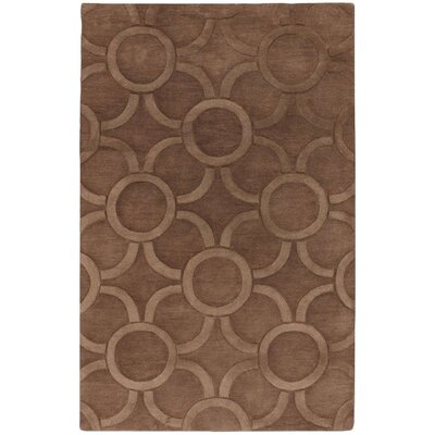 Benna Brown/Tan Area Rug Rug Size: Round 79