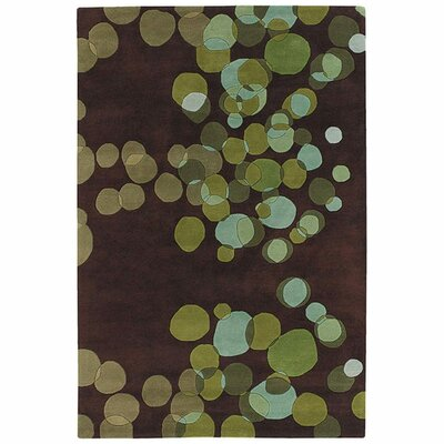 Youngman Green/Brown Area Rug Rug Size: Rectangle 79 x 106