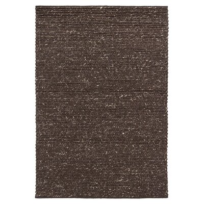 Valencia Dark Brown Area Rug Rug Size: 79 x 106