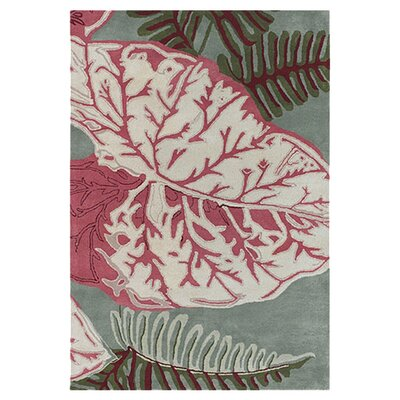 Kruger Red/Green Area Rug Rug Size: 79 x 106