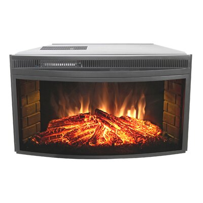 Curved Electric Firebox Size: 33 image