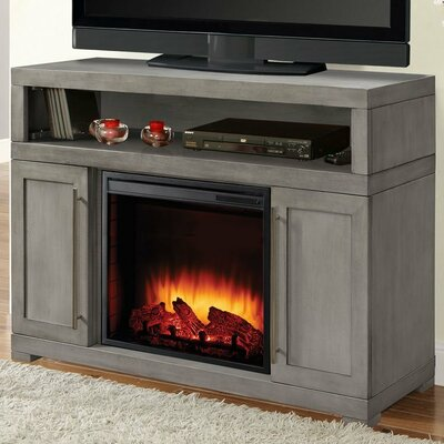 Mackenzie Media 48 TV Stand with Fireplace
