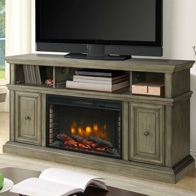 McCrea Media 58 TV Stand with Fireplace