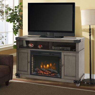 Hudson 53 TV Stand with Fireplace Color: Dark Weathered Gray