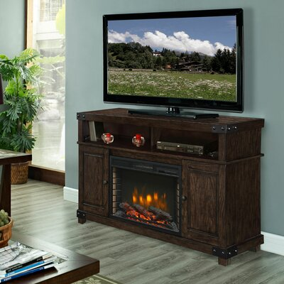 Hudson 53 TV Stand with Fireplace Color: Rustic Brown