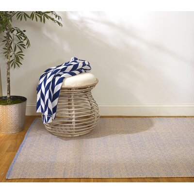 Estate Karma Hand-Woven Blue/Almond Indoor/Outdoor Area Rug Rug Size: Runner 26 x 8