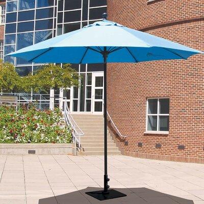 9 Market Umbrella Frame Finish: Black, Fabric: Pacific Blue