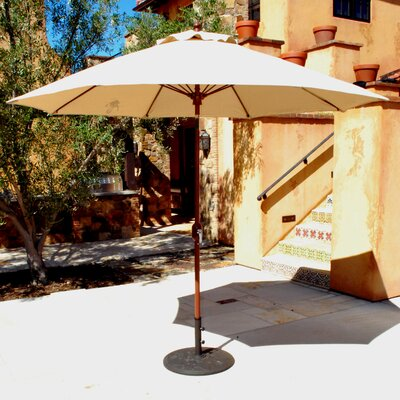 9 Market Umbrella Frame Finish: Charcoal, Fabric: Cardinal Red