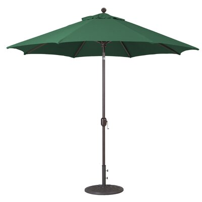 9 Market Umbrella Frame Finish: Antique Bronze, Fabric: Forest Green