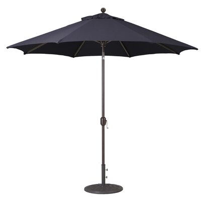 9 Market Umbrella Frame Finish: Antique Bronze, Fabric: Black