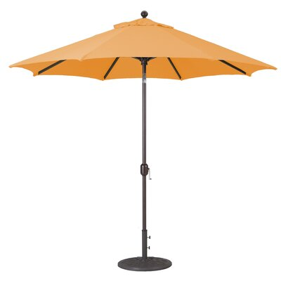 9 Market Umbrella Frame Finish: Antique Bronze, Fabric: Tangerine