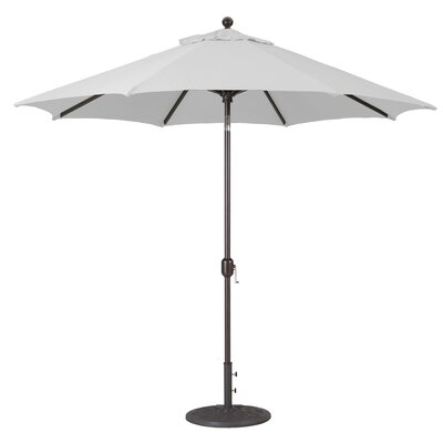 9 Market Umbrella Frame Finish: Antique Bronze, Fabric: Canvas