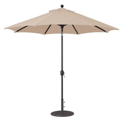 9 Market Umbrella Fabric: Antique Beige, Frame Finish: Black