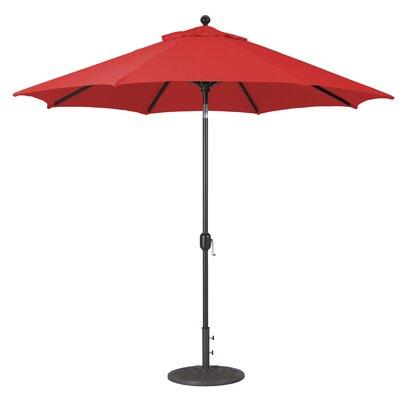 9 Market Umbrella Fabric: Jockey Red, Frame Finish: Black