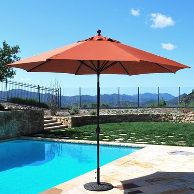 11 Market Umbrella Fabric: Brick, Frame Finish: Black
