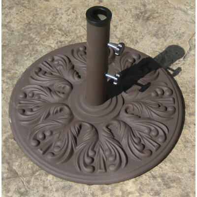 European Decorative Cast Iron Free Standing Umbrella Base Finish: Antique Bronze