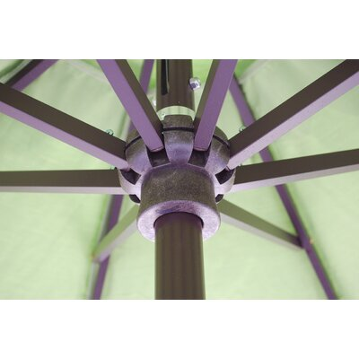7.5 Market Umbrella Frame Finish: Black, Fabric: Forest Green