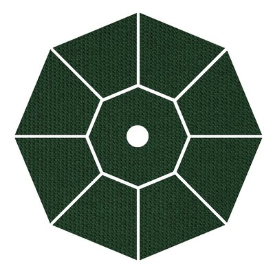 9' Market Umbrella Fabric: Forest Green