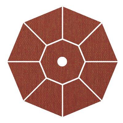 9 Market Umbrella Fabric: Brick