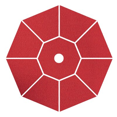 9 Market Umbrella Fabric: Jockey Red