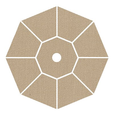 9 Market Umbrella Fabric: Antique Beige