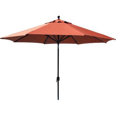 11 Market Umbrella Fabric: Navy, Frame Finish: Black