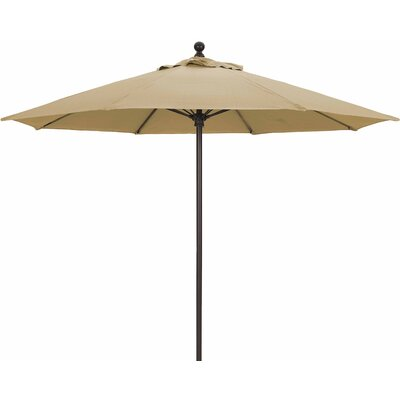 9' Market Umbrella Fabric: Heather Beige, Frame Finish: White