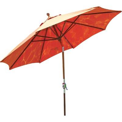 9' Market Umbrella Fabric: Tangerine