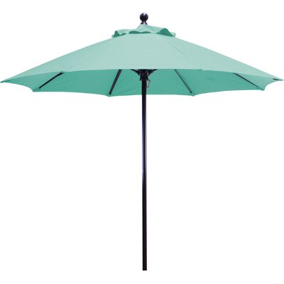 7.5 Market Umbrella Frame Finish: Black, Fabric: Navy