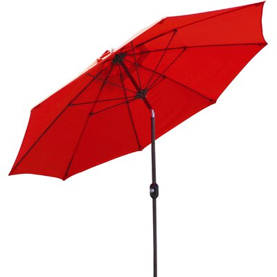 9 Market Umbrella Fabric: Cardinal Red