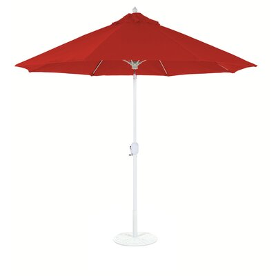 9 Market Umbrella Fabric: Cardinal Red, Frame Finish: White