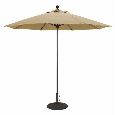 9' Market Umbrella Frame Finish: Black, Fabric: Heather Beige 735BK76