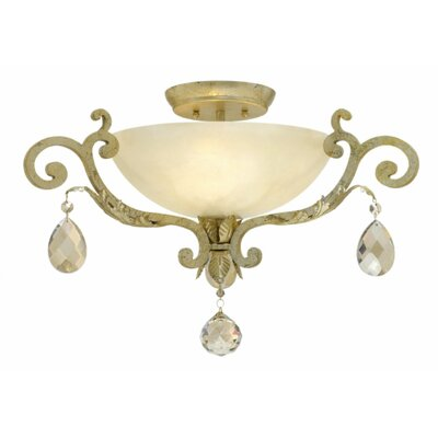 Barcelona 3-Light Semi Flush Mount