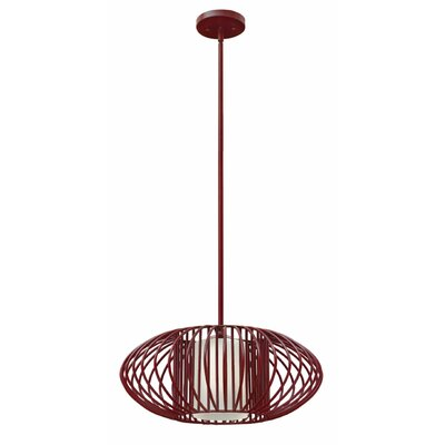 Vibe 1-Light Drum Pendant Finish: Chrome