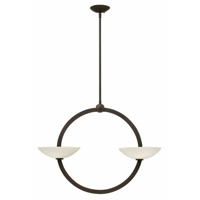 Method 2-Light Shaded Chandelier Finish: Vintage Bronze