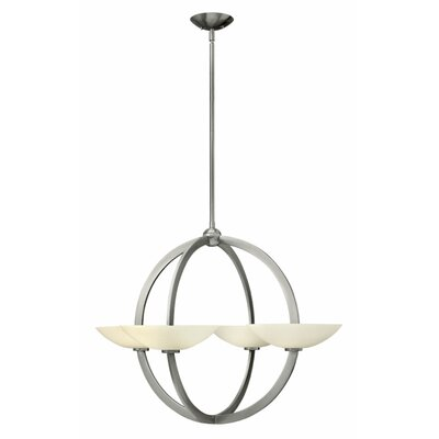 Method 4-Light Shaded Chandelier Finish: Brushed Nickel