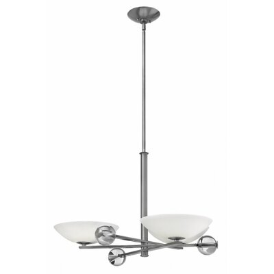 Parallax 3-Light Shaded Chandelier Finish: Brushed Nickel