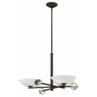 Parallax 3-Light Shaded Chandelier Finish: Vintage Bronze