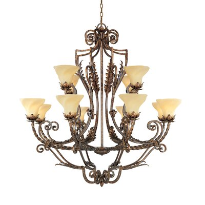 Firenza 12-Light Shaded Chandelier