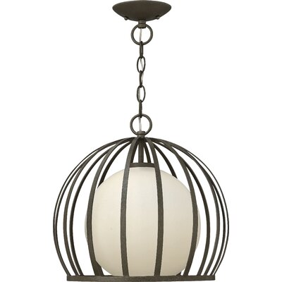 1-Light Foyer Pendant Size: 10.75 H x 10.25 W x 10.25 D