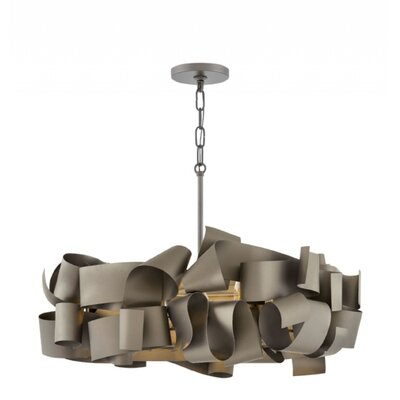 Delfina Linear 5-Light Geometric Pendant Finish: Matte Bronze